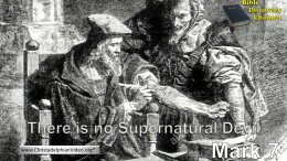 There is no Supernatural devil.