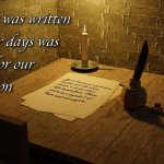 "Thought for August 5th. ""WHATEVER WAS WRITTEN IN FORMER DAYS …"""