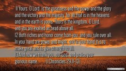 Thought for October 12th. DAVID'S WONDERFUL FINAL PRAYER