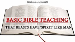 Basic Bible Teaching: 2 - The Beasts Have 'SPIRIT' like Man