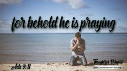 """Daily Readings & Thought for May 1st. """"BEHOLD HE IS PRAYING"""""""
