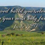 "Daily Readings & Thought for June 20th. ""BUILD YOURSELVES UP …"""