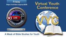 Virtual Youth Conference 2020: Friday 7th August