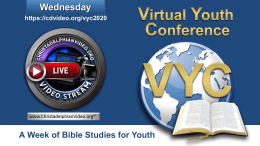 Virtual Youth Conference 2020: Wednesday 5th August