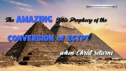 The Prophecy of the Conversion of Egypt when Christ Returns""