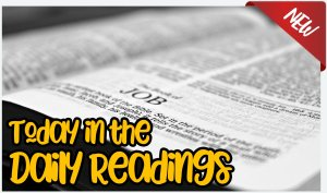 **Brand new resource available from today**  Today in the Daily Bible Readings....