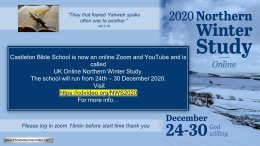 UK Virtual 'Winter' Bible School 24th-30th Dec 2020