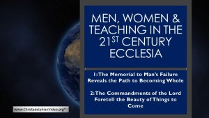 """Men, Women & Teaching in The 21st Century Ecclesia""."