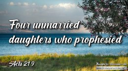 "Daily Readings & Thought for November 8th .  "" ... DAUGHTERS, WHO PROPHESIED"""
