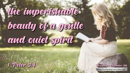 "Daily Readings & Thought for December 13th. ""IMPERISHABLE BEAUTY"""