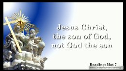 Jesus Christ, the son of God, not God the son.