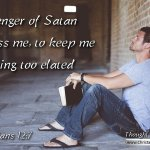 "Daily Readings & Thought for March 9th. ""MESSENGER OF SATAN"""""