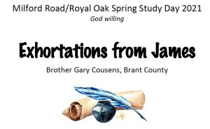 Exhortations from James - 3 Part series