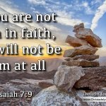 "Daily Readings & Thought for May 17th. ""IF YOU ARE NOT FIRM IN FAITH"""