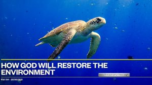 How God will restore the Environment?