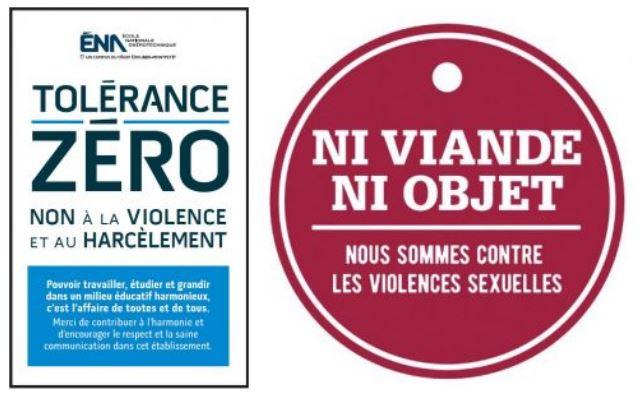 Exposition «Ni viande, ni objet : nous sommes contre les violences sexuelles» à la bibliothèque de l'ÉNA