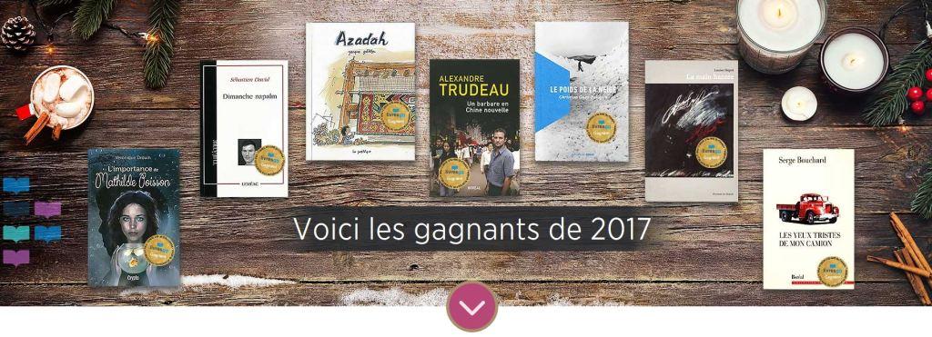 Gagnants des Prix littéraires du Gouverneur général 2017