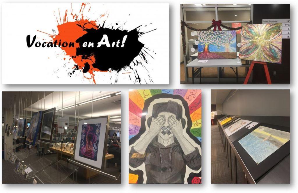 Exposition «Vocation en Art!» à la bibliothèque du campus de Longueuil