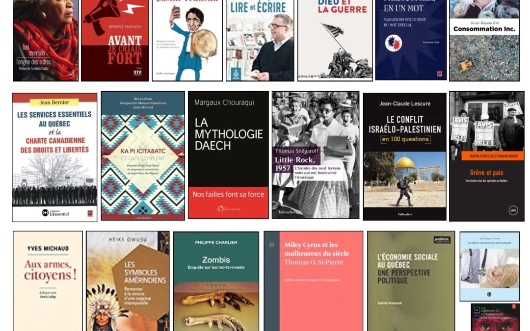 Nouveautés documentaires – Campus Longueuil – 20 août 2018