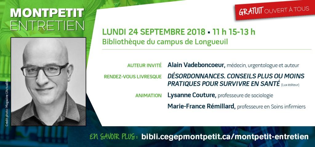 Alain Vadeboncoeur au «Montpetit entretien»