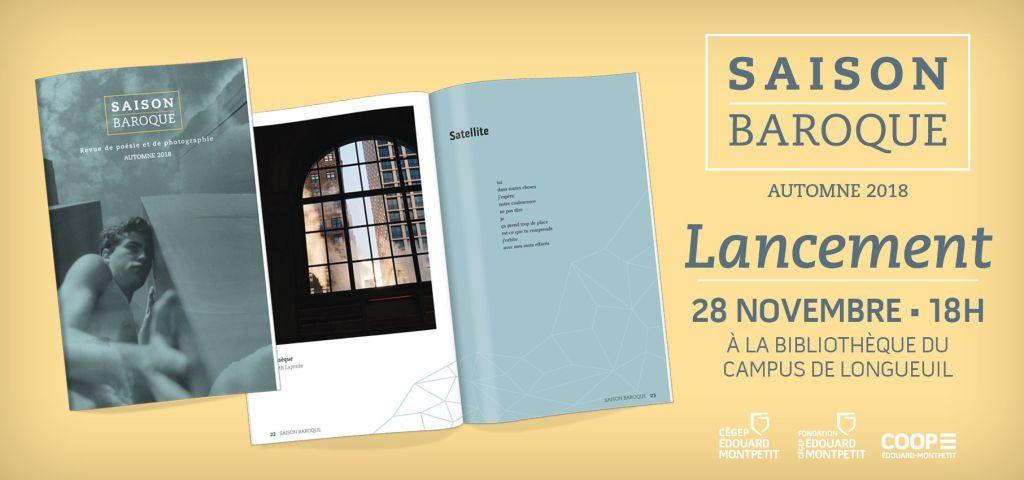 Lancement du numéro d'automne 2018 de la revue «Saison baroque»