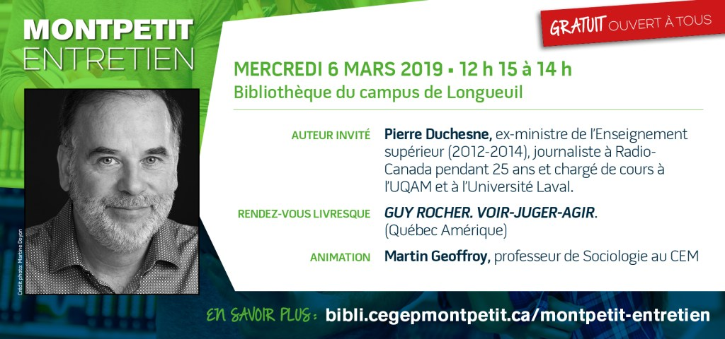 """Pierre Duchesne est l'invité du """"Montpetit entretien"""""""
