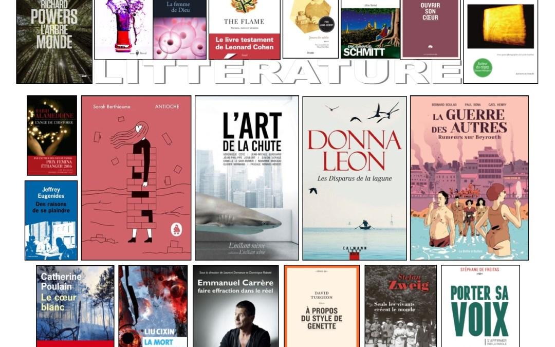 Nouveautés littéraires – Campus Longueuil – 1er mars 2019