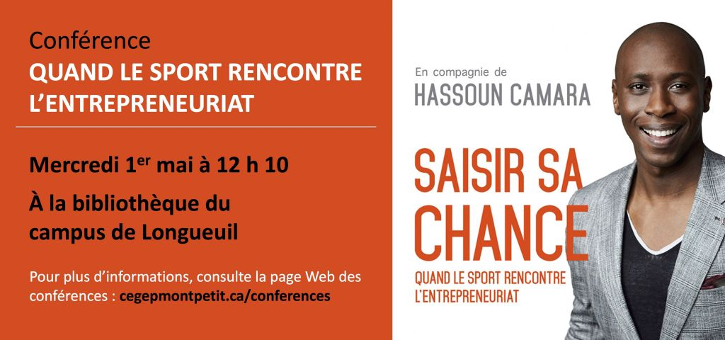 Conférence de Hassoun Camara – Quand le sport rencontre l'entrepreneuriat !