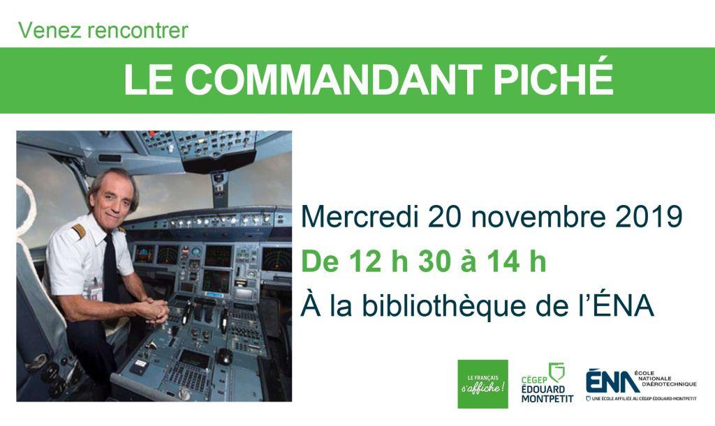 Conférence du commandant Piché à la bibliothèque de l'ÉNA
