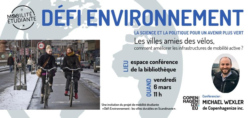 Défi Environnement – Conférence à la bibliothèque du campus de Longueuil