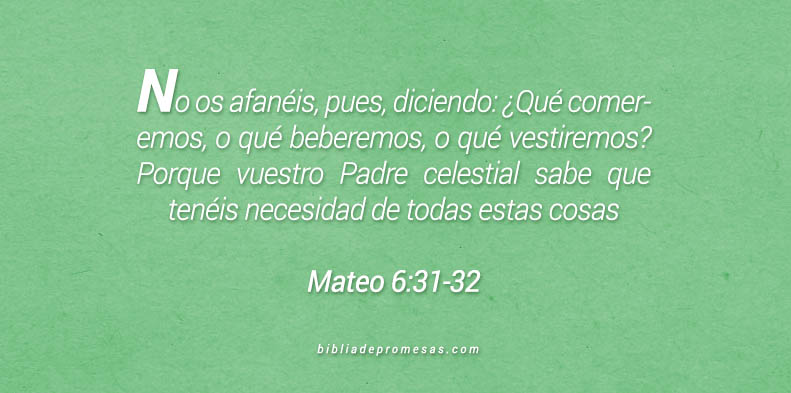 Mateo 6:31-32