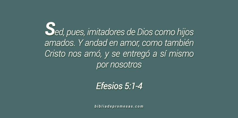 Efesios 5:1-4