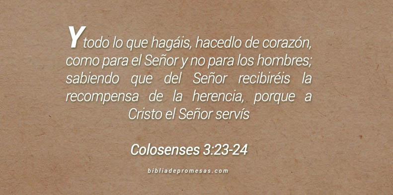 Colosenses 3:23-24