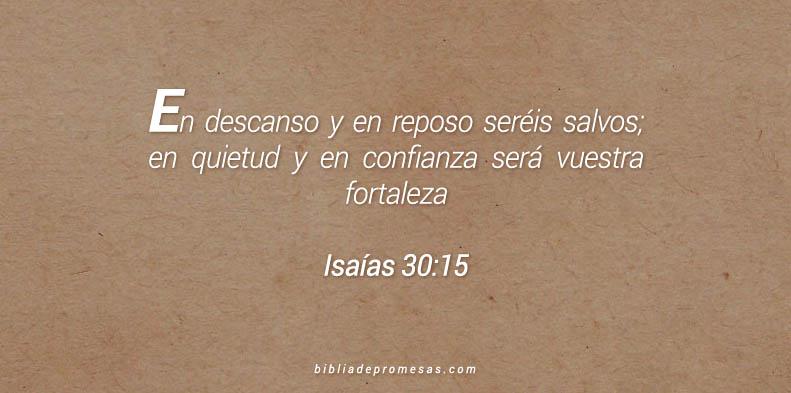 Isaías 30:15
