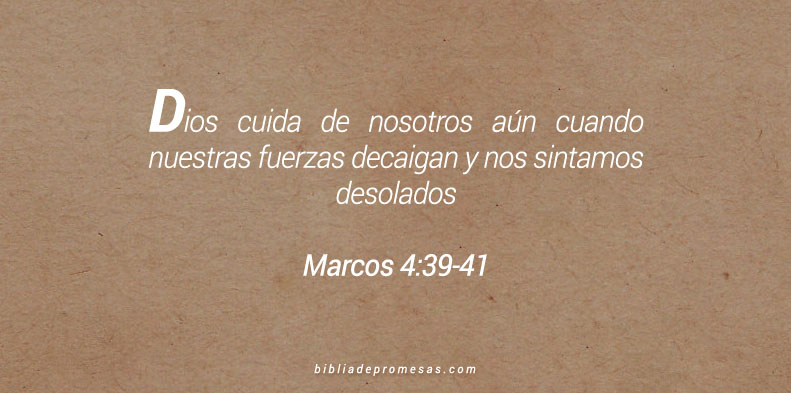 Marcos 4:39-41