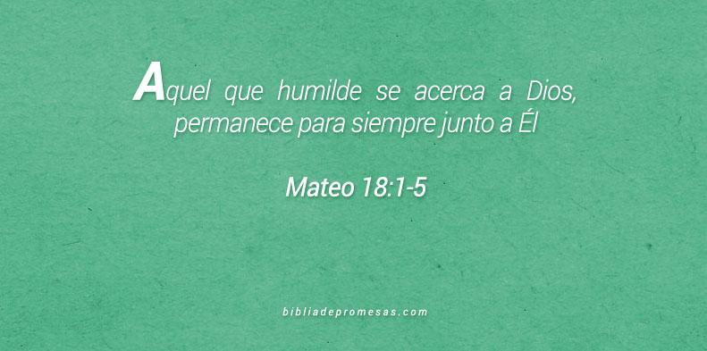 Mateo 18:1-5