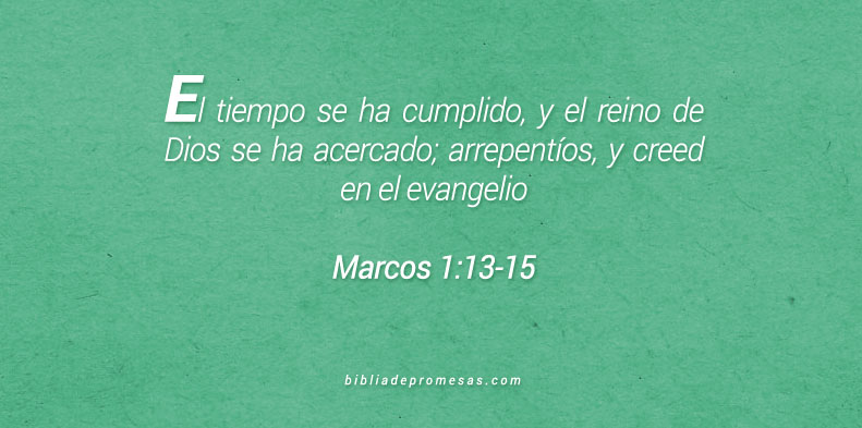 Marcos 1:13-15
