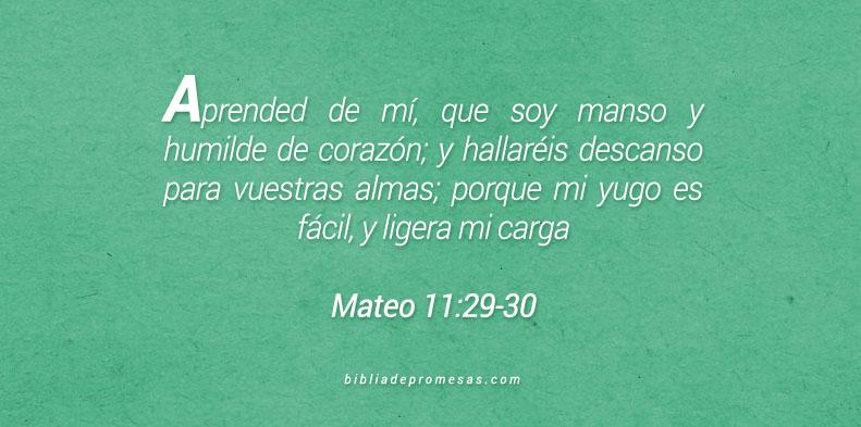 Mateo 11:29-30