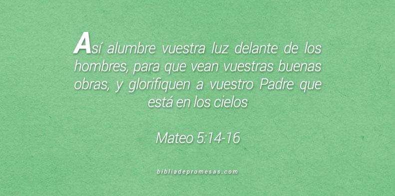Mateo 5:14-16