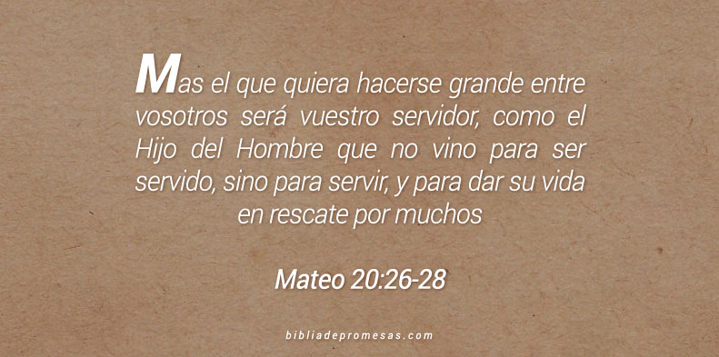 Mateo 20:26-28