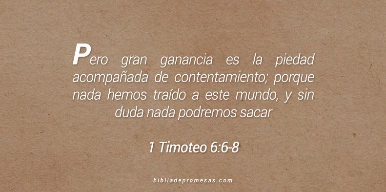 1 Timoteo 6:6-8