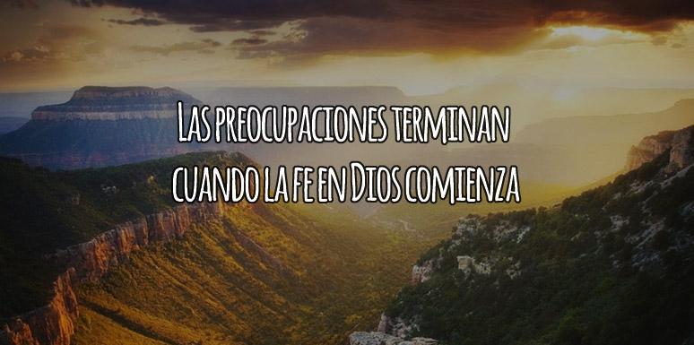 Dios quita Las Preocupaciones