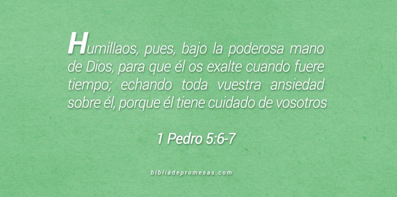 1 Pedro 5:6-7