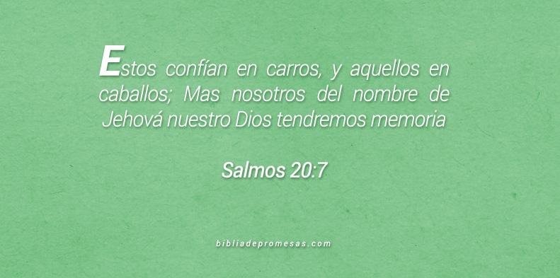Salmos 20:7