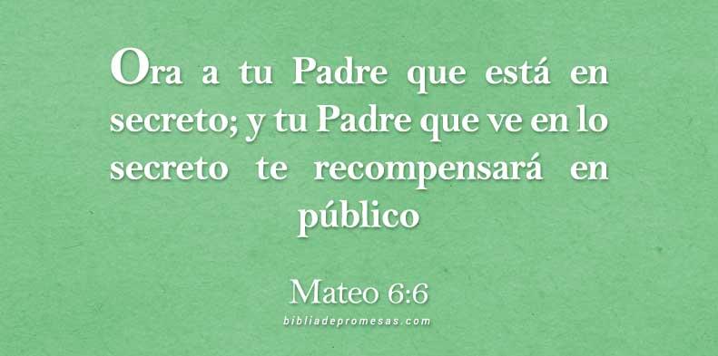 Frases Cristianas Mateo 6:6