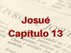 Josué Capítulo 13