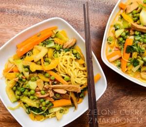 Zielone curry z makaronem
