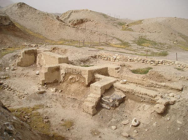 Dwelling foundations unearthed at Tell es-Sultan in Jericho