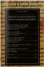 Journal for the Evangelical Study of the Old Testament Vol 1 2