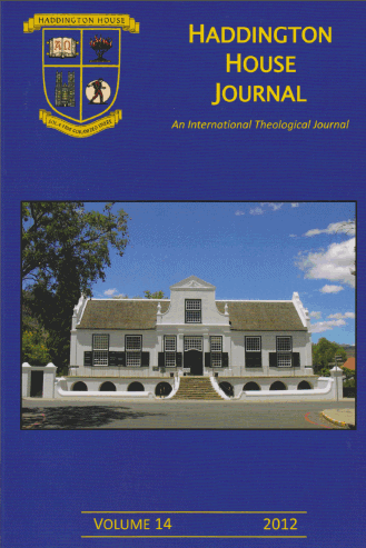 the good folks at haddington house journal have kindly sent me the articles from volume 14 2012 i trust that you find them of interest